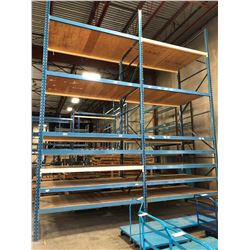 2 BAY ROW OF 24' HEAVY DUTY PALLET RACKING