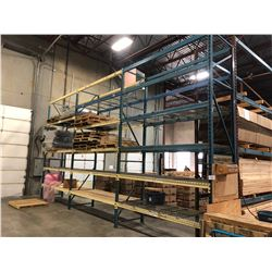 3 BAY ROW OF 16' HEAVY DUTY PALLET RACKING