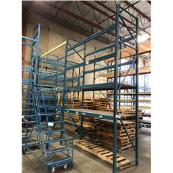 2 BAY ROW OF 16' HEAVY DUTY PALLET RACKING