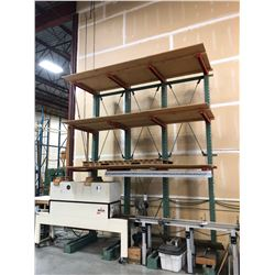 16' GREEN HEAVY DUTY CANTILEVER RACKING