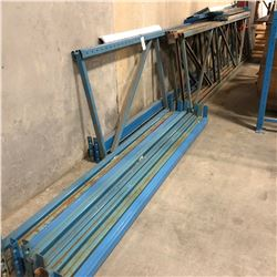 LOT OF HEAVY DUTY RACKING PARTS