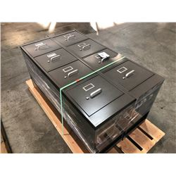 2 HON BLACK 4 DRAWER VERTICAL FILE CABINET