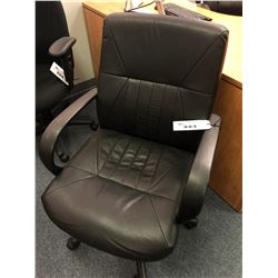 BLACK MID BACK ADJUSTABLE OFFICE CHAIR