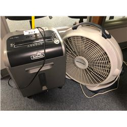 FELLOWES PS-79CI PAPER SHREDDER & WIND MACHINE OFFICE FAN