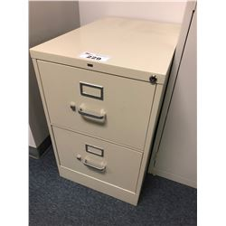 HON GREY 2 DRAWER FILE CABINET