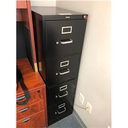 BLACK HON 4 DRAWER FILE CABINET
