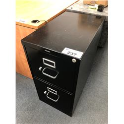 BLACK HON 2 DRAWER FILE CABINET