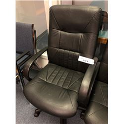 BLACK HI BACK ADJUSTABLE OFFICE CHAIR