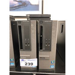 PAIR OF DELL OPTIPLEX 3010 DESKTOP COMPUTER (NO HARD DRIVES)