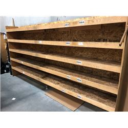 "13'X78"" WOODEN SHELF"