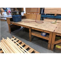 LARGE WOODEN WORK BENCH