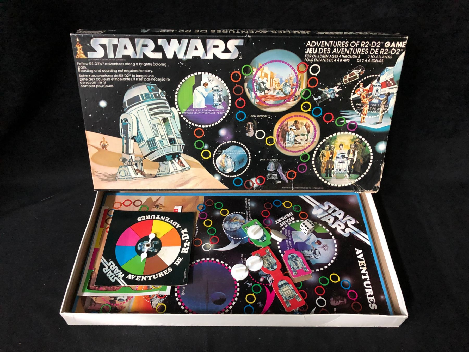 Vintage 1977 Star Wars Board Game Adventures of R2-D2