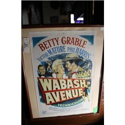 Betty Grable Poster ( Framed)