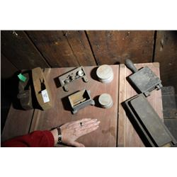 Block Plane, Scale Weights, Mould, Stone Etc