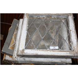 4 Misc. Leaded Glass Windows