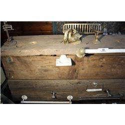 Barn Board Display On Cast Iron Base
