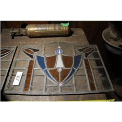 2 Leaded Glass Items