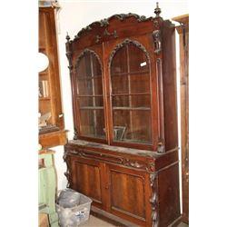 Antique Victorian Ornate Bookcase/Cabinet