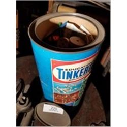 Tinker Toy Can Container With Toys