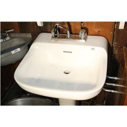 White Pedastal Sink