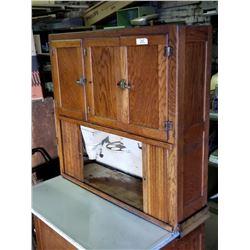 Oak Hoosier Cupboard, Spice Shelf