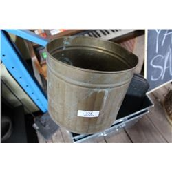 Brass Planter & 2 Galvanized Containers