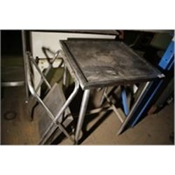 Stainless Steel Prep Table & Small Folding Table