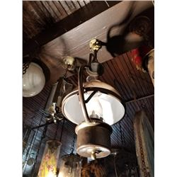 Brass Antique Hanging Light Fixture