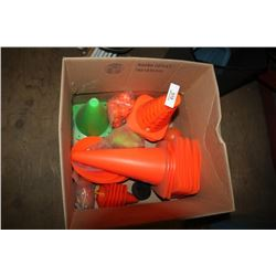 Box Of Assorted Traffic Cones