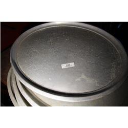 5 Aluminum Oval Trays