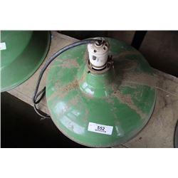 Industrial Light Fixture Green