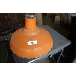 Industrial Light Fixture Orange