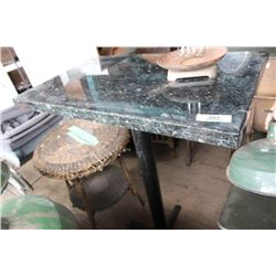 Marble Top Bar Height Table
