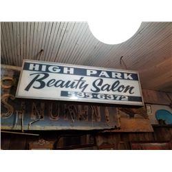 High Park Beauty Salon Sign