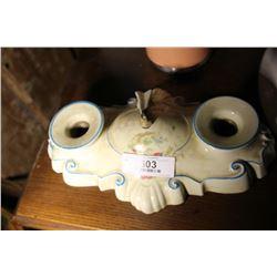 Vintage Italian Ceramic Light Fixture