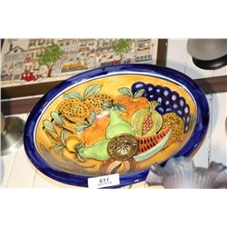 Vintage Mexican Hand Painted Sink