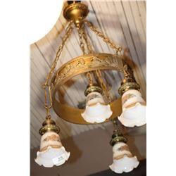 Antique Brass Hanging Light Fixture