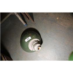 1 Vintage Green Lamp Shade