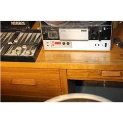 Antique Solid Oak Office Desk