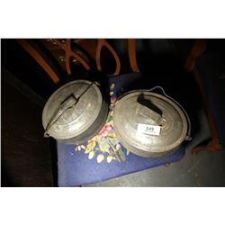 3 Cast Bean Pots