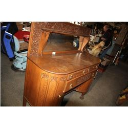 Mirrored Sideboard Claw Feet Quarter Sawn Oak