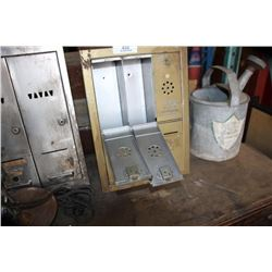 2 Mail Boxes, Parts Of Food Mixer Etc