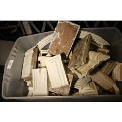 Large Tote Of Various Pieces Of Trim Board