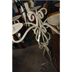 Wrought Iron 5 Candle Holder