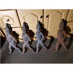 4 Cast Iron Soldiers