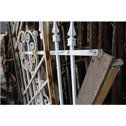 White Wrought Iron Railing & Gate