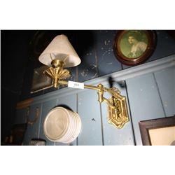2 Brass Colored Swivel Light Fixtures