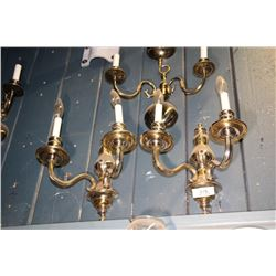 2 Brass Colored Wall Scones