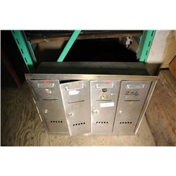 Bank Of 4 Small Mail Boxes