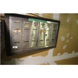 Bank Of 6 Small Mail Boxes (Front Only)